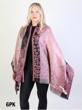 Leopard & Paisley Print Design Pashmina