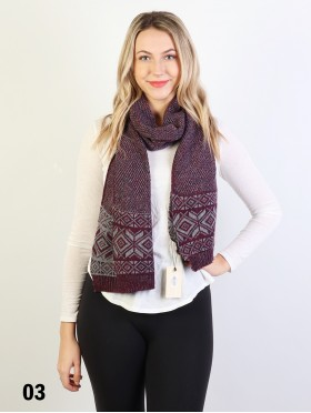 Fashion Knitted Diamond Patterned Scarf