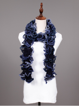 HAND-CRAFTED RUFFLE SCARF