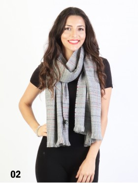 Plaid Yarn Winter Heavy Scarf