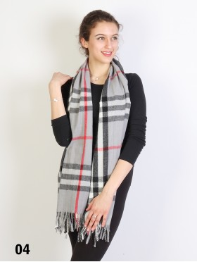 Plaid Cashmere Feeling Scarf