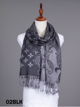 Paisley & Floral Pashmina W/ Tassels