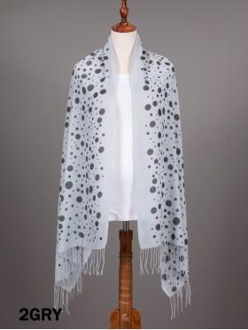 Mixed Polka Dots Print Fashion Scarf