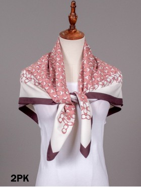 Moon Crescent Patterned Square Scarf