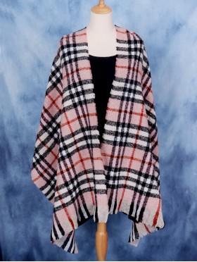 Soft Color Plaid Blanket Scarf