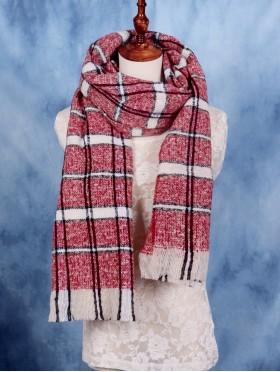 Soft Striped Blanket Scarf