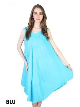 Sleeveless Floral Pattern Sun Dress