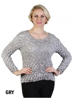 BUBBLE TOP, LONG SLEEVE
