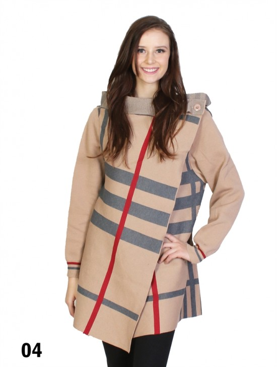 Plaid Wrap Outwear