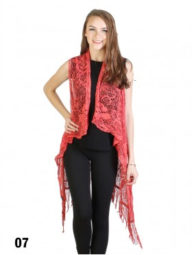 Lacy Fringe Draped Vest