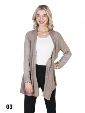 Mercerized Cotton Cardigan
