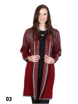 Sparkle Lurex Trim Fashion Plus Size Outwear