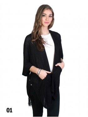 Cardigan Sweater W/ Pockets & Buttons