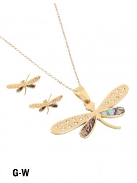 DRAGONFLY NECKLACE EARRING SET