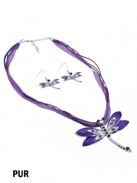 DRAGONFLY NECKLACE WITH EARRING SET