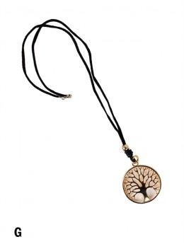 Rope Necklace W/ Tree Pendant