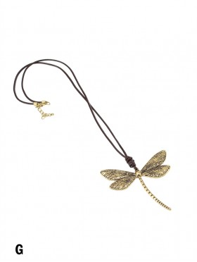 Rope Necklace W/ Dragonfly Pendant