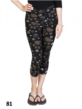 Paws Print Stretch Capri