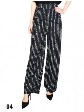 Wide-Leg Full-Length Pants