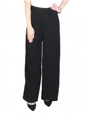 Solid Color Wide-Leg Full-length  Pants