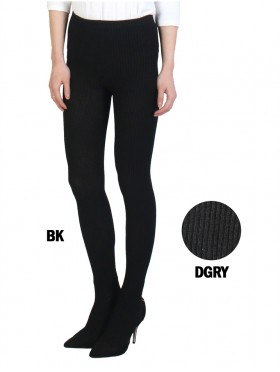 Full Length Footed Cable Knitted Stretch Legging