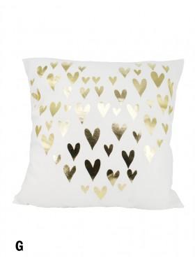 Hearts Print Cushion & Filler