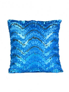 WAVE SEQUINS DESIGN CUSHION COVER & FILLER