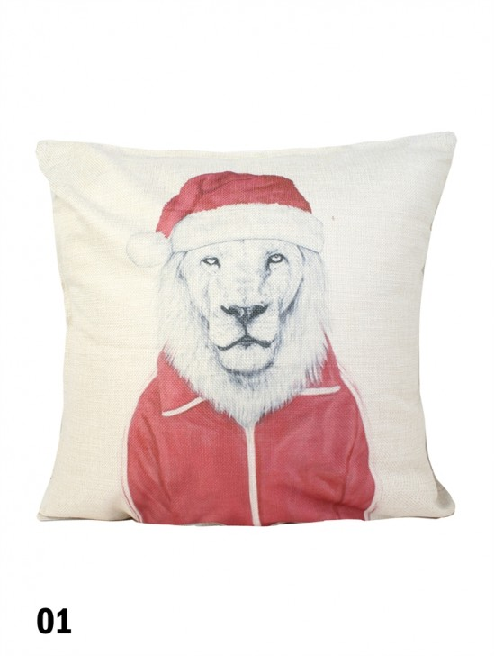 Lion Print Cushion & Filler (Dou-Sided)