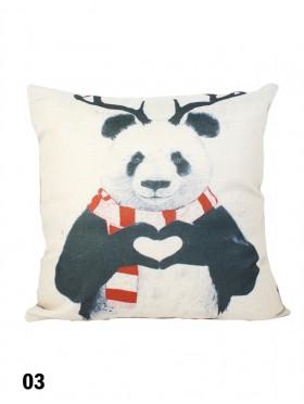 Panda Print Cushion & Filler (Dou-Sided)