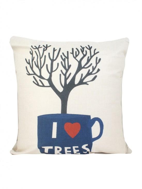 Tree Print Cushion & Filler (Dou-Sided)