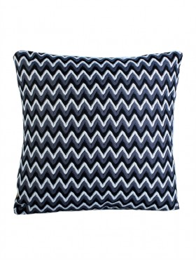ZIG ZAG PRINT CUSHION COVER AND FILLER
