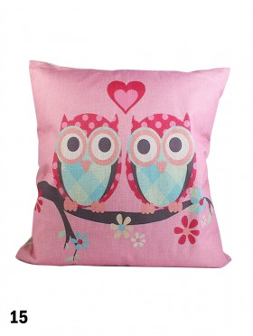 Large Owl Print Cushion & Filler