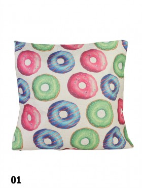 Donut Print Cushion & Filler