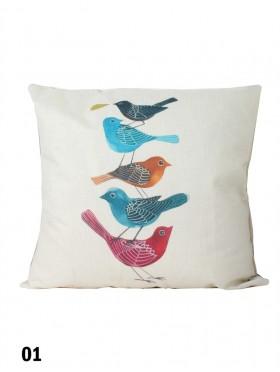 Birds Print Cushion & Filler