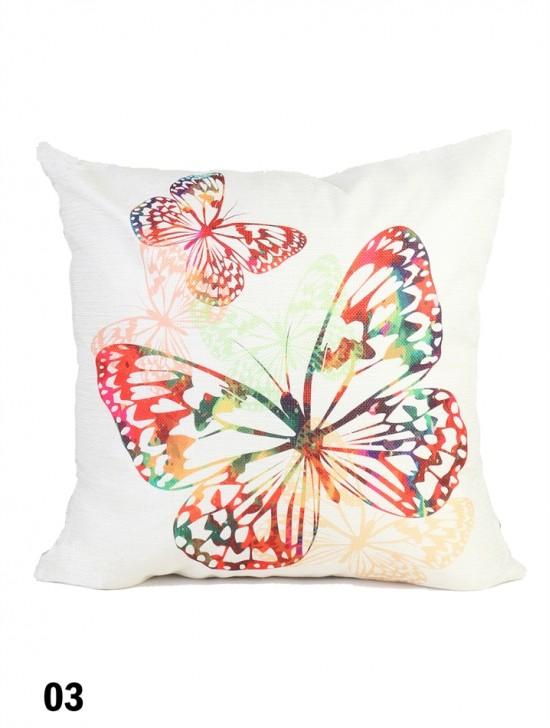 Butterfly Print Cushion & Filler