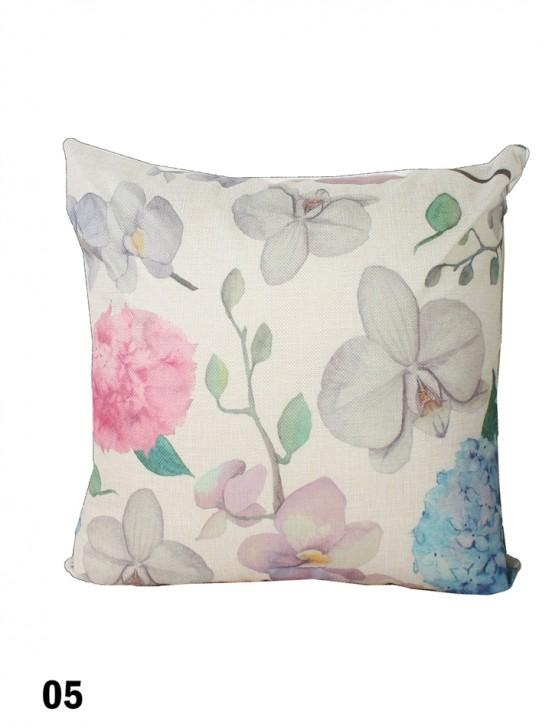 Flower Pattern Cushion & Filler