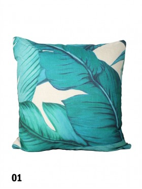 Leaf Print Cushion & Filler