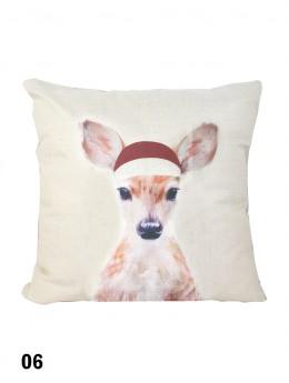 Deer Print Cushion & Filler (Dou-Sided)