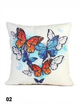 Butterfly Print Cushion & Filler