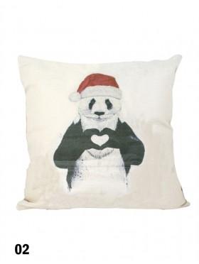 Panda Print Cushion & Filler (Dou-Sided)