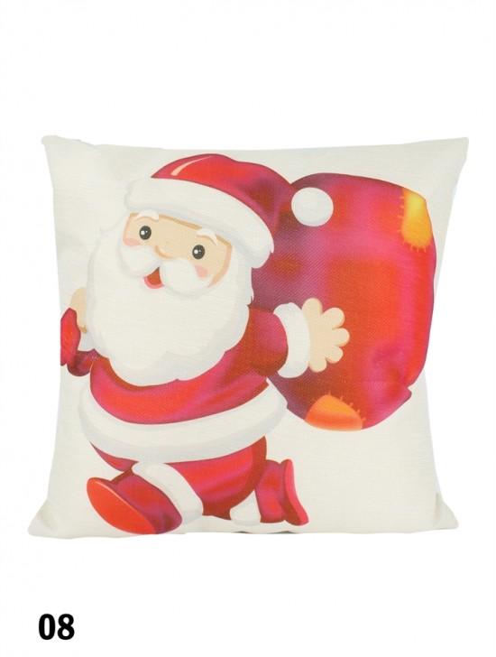 Cute Santa Print Cushion W/ Filler