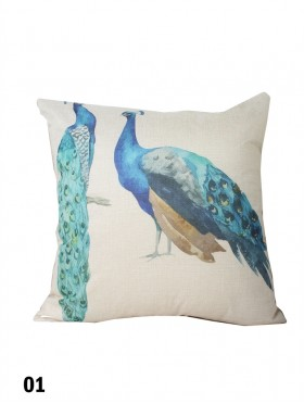 Peacock Print Cushion & Filler