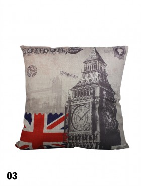 LONDON STYLE PRINT CUSHION & FILLER