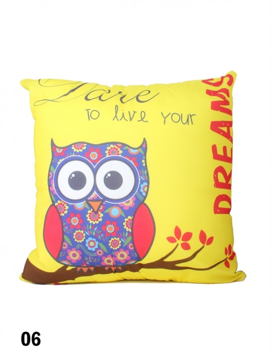 Owl Print Cushion & Filler