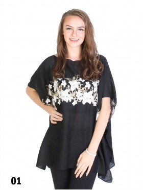 Floral Embroidery Breathable Top