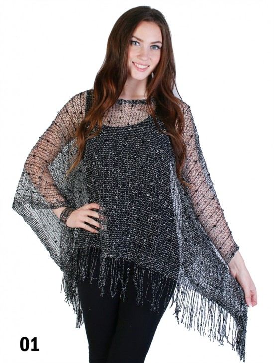 Loose Multi Knit Top with Fringe