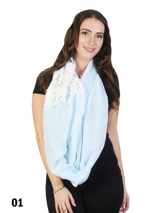 Loop Fashion Scarf With Lace