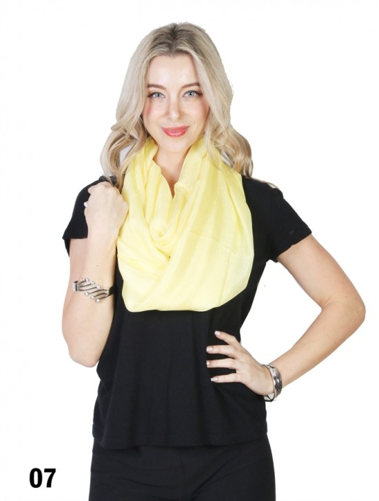 Solid Colour Loop Fashion Scarf