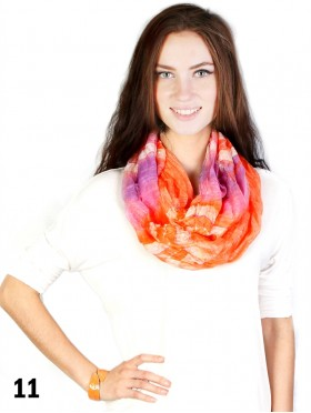 MULTI COLOUR GAUZE TIE-DYE LOOP