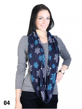 SNOW PRINT LOOP SCARF